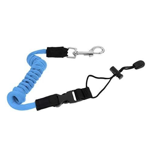 YiMusic - Cuerda elástica de seguridad kayak para cayak, barco, caña de pescar, corbata, cuerda de corbata, azul celeste