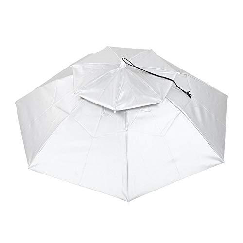 Qqmora Pesca Sombrero Paraguas Plegable Transpirable Transpirable Paraguas Sombrero Anti-UV, Pesca(#1)