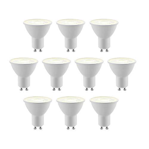 LED Gu10 bombilla 'Gu10 LED 5 W 10er' (GU10, A+) de ELC | bombilla bombillas LED lámpara fluorescente