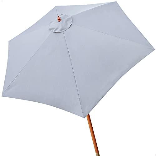 Aktive - Parasol hexagonal Garden diámetro 300 cm - Mástil de madera 48 mm - Color gris (ColorBaby...