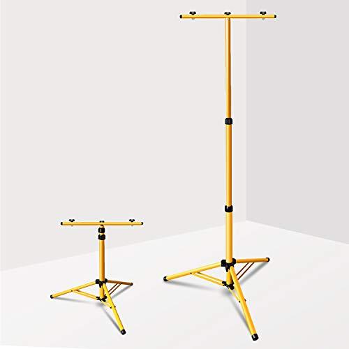 wolketon Stativ für Baustrahler, Flutlicht Stativ, Stativ für LED strahler, Teleskop-Stativ für Fluter, Höhenverstellbar, Farbe: Gelb