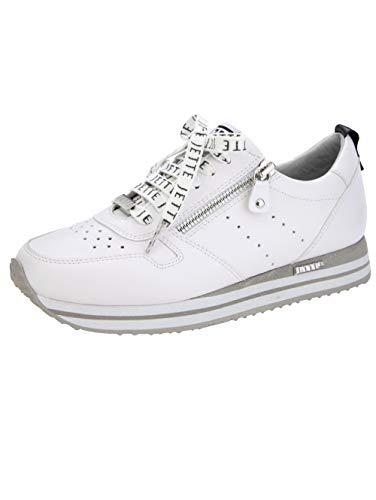 JETTE Sneaker mit modischen Schnürsenkeln Weiß