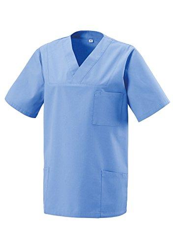 Schlupfkasack Kasack Schlupfjacke Schlupfhemd für Medizin und Pflege OP-Kleidung Light Blue Gr. XL