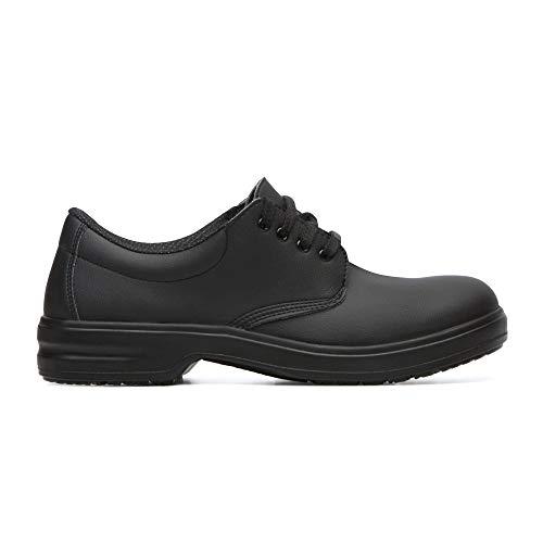 D223 Safeway - Zapatos de cocina con cordones y tapa protectora S2, color negro, talla 39