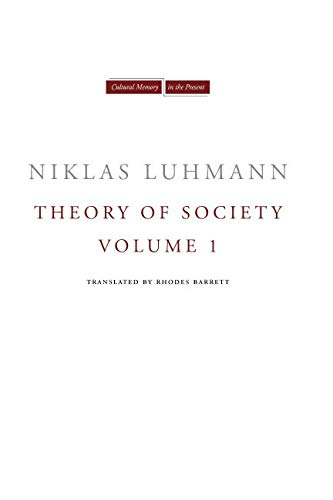 Theory of Society, Volume 1