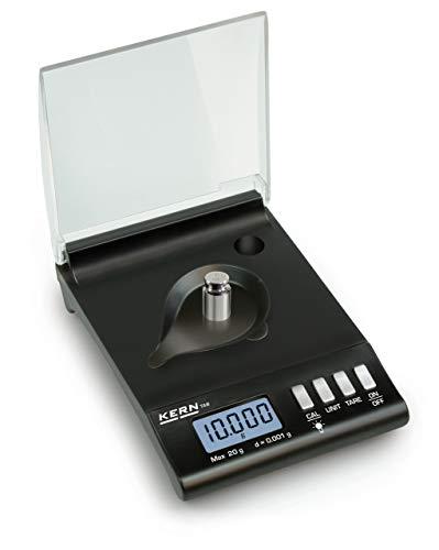 Alta precisione di tasche Karat Bilancia [KERN Tab 20–3] per gioiellieri e viaggiatori, Portate [Max]: 20G, Divisione [d]: 0,001G