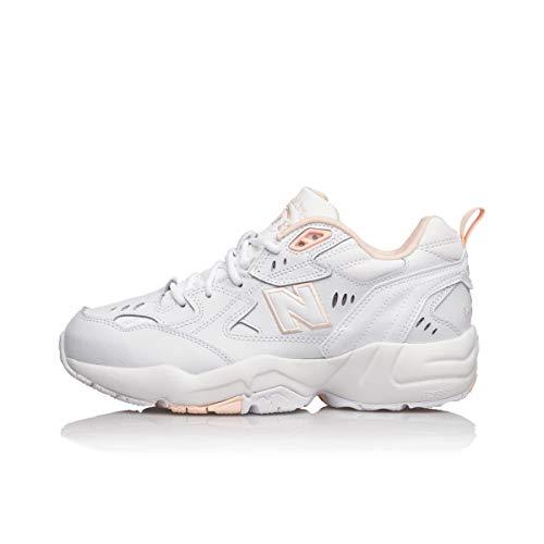 New Balance WX608WI1, Trail Running Shoe Mujer, White Pink 249, 32 EU