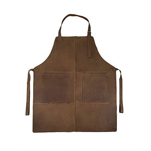Hide & Drink, Durable Leather Apron Utility Tool Pockets Adjustable Chef Butcher Metalworker Carpenter Blacksmith Heavy Duty Wear, Handmade :: Bourbon Brown