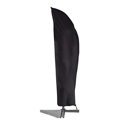 Vokmon Patio Waterproof Market Parasol with Zipper Outdoor Weather Resistant Ox Cloth Umbrella