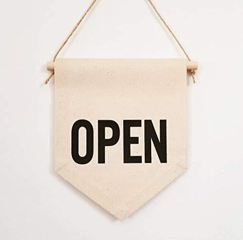 Handgemaakte dubbelzijdige open teken handgemaakte handgemaakte handgemaakte open Banner open en gesloten deur teken