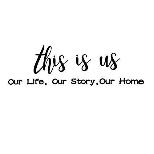 6 Stück This Is Us Wandtattoo Our Life Our Story Our Home Vinyl Wandaufkleber Inspirierende Worte Buchstaben Motivierende Zitat Aufkleber für Wohnzimmer Schlafzimmer Dekoration