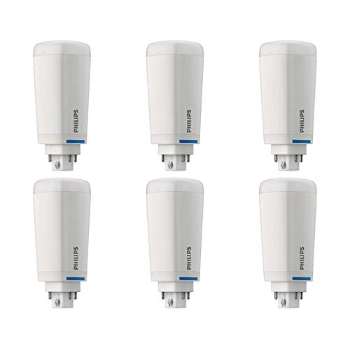 Philips LED Frosted Dimmable PL-C, CFL Replacement, Flicker-Free, 1200 Lumen, Soft White Light (2700K), 10.5W=26W, G24Q GX24Q Base, 6-Pack