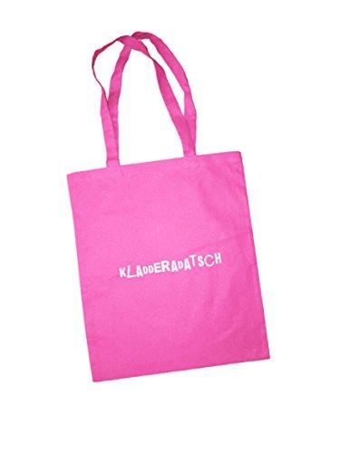 Jutebeutel bedruckt mit Berliner kladderadatsch - / Stoffbeutel / Jute Beutel / Einkaufsbeutel Baumwolle mit Sprüchen von SPREE Klamotte Berlin - Statement Sprüche Tasche - pink