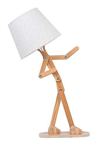 XinQing Lámparas de araña Modernas Tornillos For Madera Creativos De La Lámpara De Escritorio Ajustable De Diseño Lámpara De Mesa Lámpara De La Sala De Estar