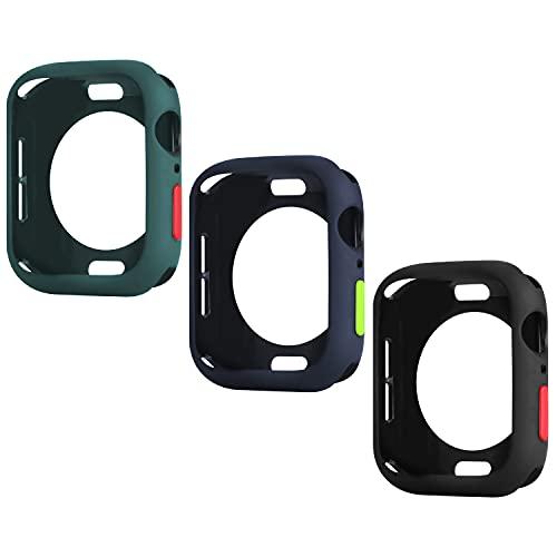 Wenearn 3 Pezzi Cover per Apple Watch 40mm Series SE/4/5/6, Protezione Custodia e Pulsanti Case, Ultra Sottile Paraurti TPU Protettiva Case Compatibile con Apple Watch 40mm