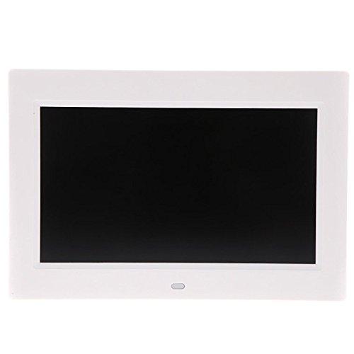 SODIAL(R) &apos 10.11024* 600HD TFT-LCD Digitaler Bilderrahmen/Digital Photo Frame Kalender Wecker MP3MP4Movie Player mit Remote Desktop Weiß