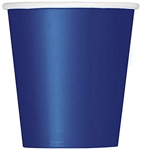 Unique Party- Paquete de 14 vasos de papel, Color azul marino, 266...