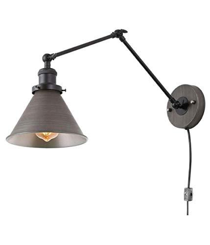 TANGSHI Vintage Edison Paraguas Luz Colgante de Retro
