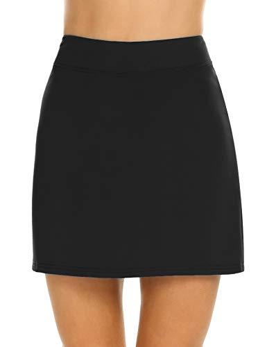 Ekouaer Women's Athletic Skorts Lightweight Golf Skirts Inner Shorts Pocket Tennis Running Workout Sports Skorts