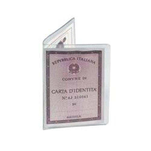 Favorit 100500073 Porta Carta D'Identità Formato 16,5X12,5 cm Trasparente, Confezione da 50 Pz.
