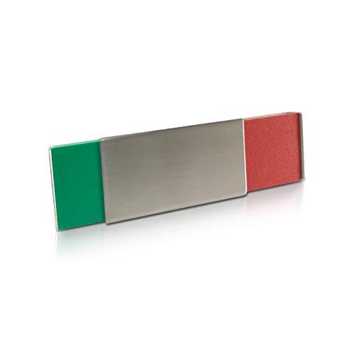 Betriebsausstattung24® Frei & Besetzt Türschild | Frei- Belegt Kennzeichnung | Schiebeschild | Raumschild | Zum Verkleben oder Verschrauben | Aluminium | 7,0 x 3,0 x 0,6 cm