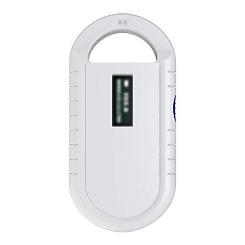 OMKMNOE Tierchip Lesegerät,Chiplesegerät Tierchip Mikrochip Transponder Tierkennzeichnung Transponder Haustier Microchip Scanner Universal,Weiß