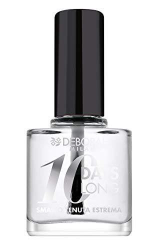 Deborah Smalto 10 Days Long N.00 Top Coat, Tenuta fino a 10 giorni senza ritocco o lampada UV, per unghie nutrite e luminose