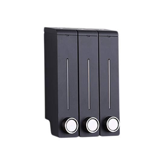 MKVRS Dosatori per Sapone Liquido Dispenser di Sapone a Pompa a Muro a Parete a 3 Camera Distributore di Sapone a Mano in Acciaio Inox Set per Cucina Bagno Hotel 3x320ml Dosatori per Sapone Liquido