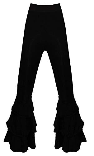 Magic Moon zwarte 3/4 slagbroek gestreukt rekbaar broek leggings S M 34 36 Steampunk Goth