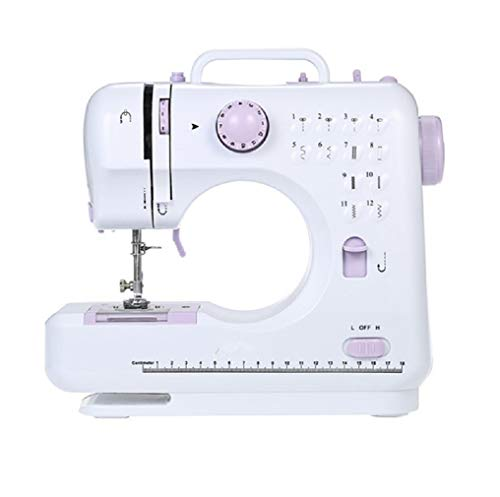 Best Prices! Lookvv Mini Sewing Machine with 12 Built-in Stitches for Beginner, Portable Manual Brak...