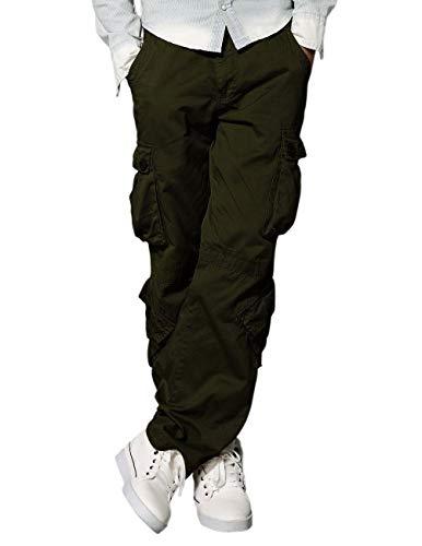 Matchstick Uomo Pantaloni Cargo #3357(Esercito Verde(Army Green),29W x 31L)