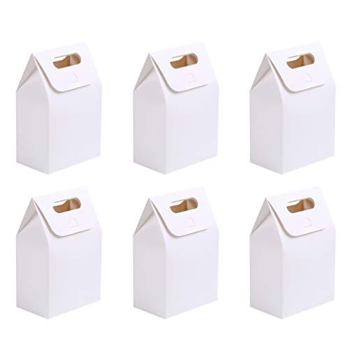 YARNOW Scatola per Maniglie in Carta Kraft Originale da 20 Pezzi Confezione Regalo in Carta Resistente Busta in Carta Kraft Naturale Vintage Scatole Regalo in Carta Kraft Scatole