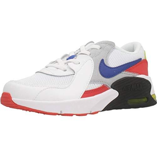 Nike Air MAX Excee (PS), Zapatillas para Correr, White/Hyper Blue/Bright Cactus/Track Red, 28.5 EU