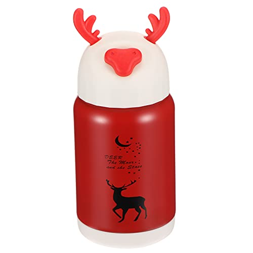 Stainless Steel Anti-autunno Antlers Cartoon Cute Water Cup Red Coffee Cup Creative Cartoon Antlers Water Cup For To Friends And Family Home Office School