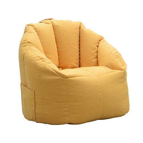 SD canapé/Bean Bag Chaise/Grande Fauteuil/avec Repose-Pied/avec Mousse Ultra Confortable/pour Enfants et Adultes/Jaune
