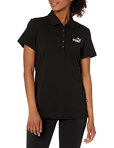 PUMA Essentials Polo Camiseta, Negro, S para Mujer