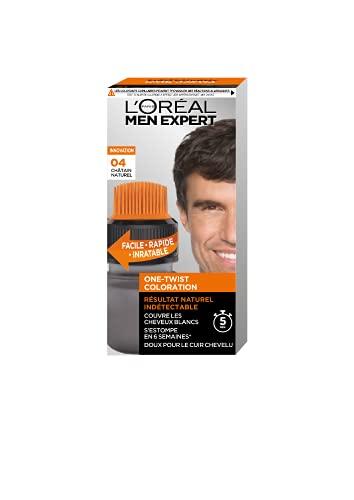 L'Oréal Paris Men Expert - Coloration pour Homme - One Twist Coloration - Teinte : Châtain Naturel (04)
