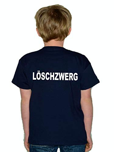 feuer1 T-shirt pour enfant Navy avec inscription « LÖSCHZWERG » (Blanc)