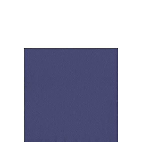 Duni Chiffon de cellules de serviettes 33 x 33 cm 1 plis pliage 1/4 Bleu foncé, 500 pièces