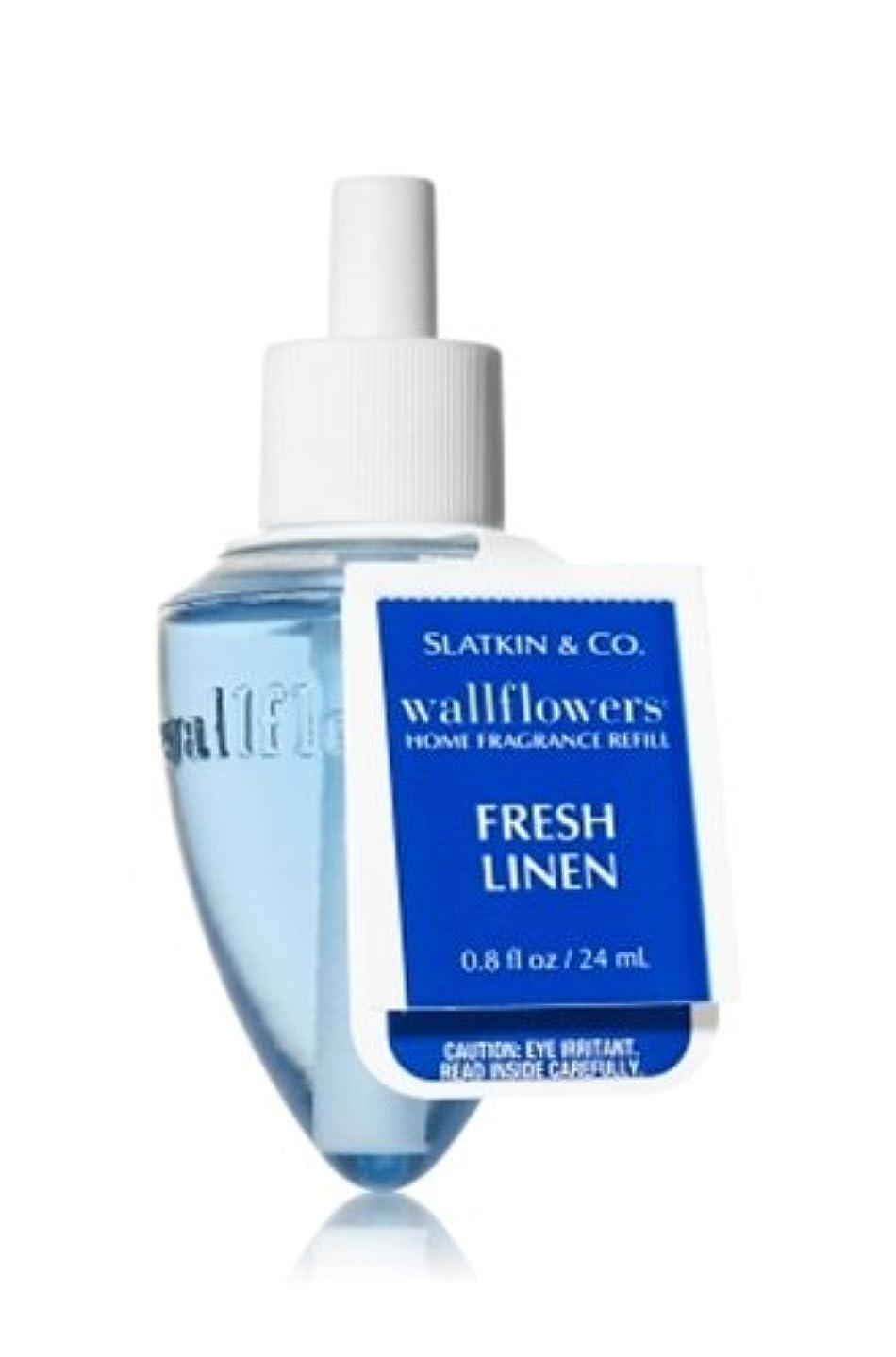 天気アスペクト滅多Bath & Body Works(バス&ボディワークス)フレッシュ?リネン ホームフレグランス レフィル(本体は別売りです)Fresh Linen Wallflowers Refill Single Bottles