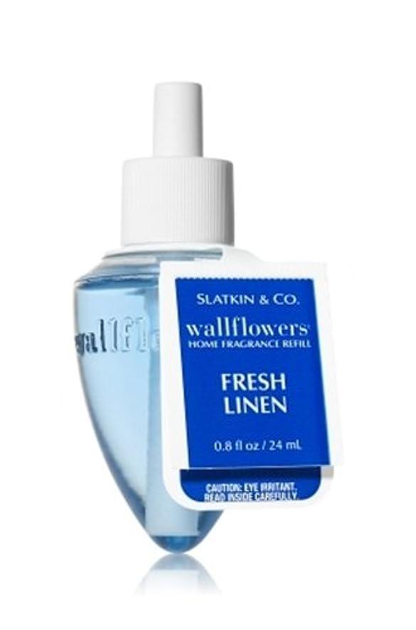 入植者変更気楽なBath & Body Works(バス&ボディワークス)フレッシュ?リネン ホームフレグランス レフィル(本体は別売りです)Fresh Linen Wallflowers Refill Single Bottles