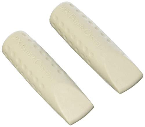 Radiergummikappen Grip grau 2 Stück, Faber-Castell
