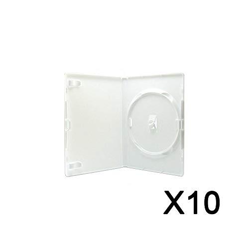 Pack 10 Boitiers de remplacements CD/DVD pour jeux Wii consoles Blanc