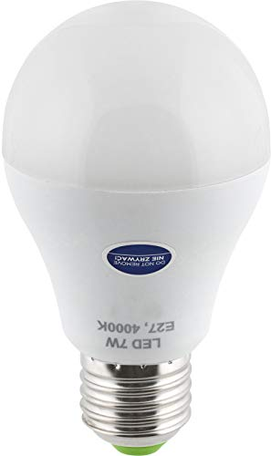 LED Birne E27 mit HF Bewegungsmelder 360° + Dämmerungssensor - 7W 600lm - tagesweiß (4000 K)