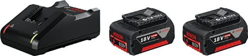 Bosch Professional GAL 18V-40 + GBA 18V Starterset Cargador + batería de litio, 2 baterías x 4.0 Ah, 18 V
