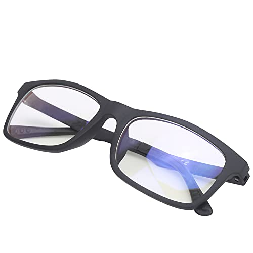 Gafas de Rayos Azules, Gafas de Bloqueo de luz Azul de tamaño Ajustable con toallitas para protección UV para Evitar la Fatiga Ocular