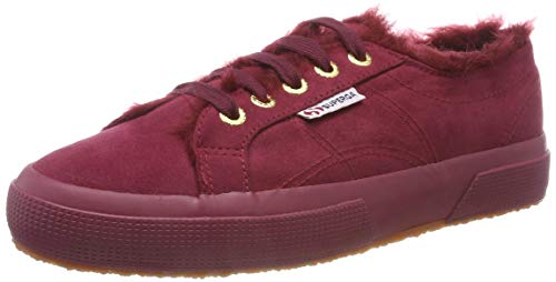 Superga Damen 2750-SYNSHEARLINGW Sneaker, Rot (Full Red Bordeaux 972), 36 EU