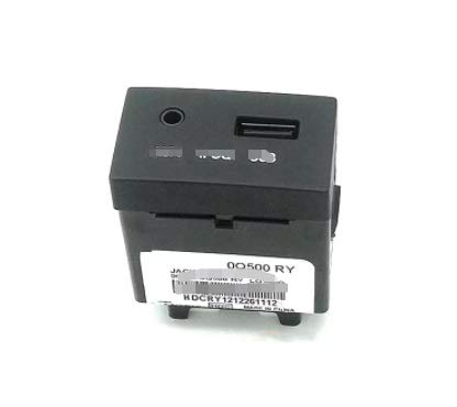 GUOPING ZHUQI Ajuste para Genuine 961201R000RYRY Jack ASSY AUX y AMP;Ajuste USB para Hyundai 2011 2012 2013 Accent Solaris USB Reader iPod Aux Port Adaptador Assy