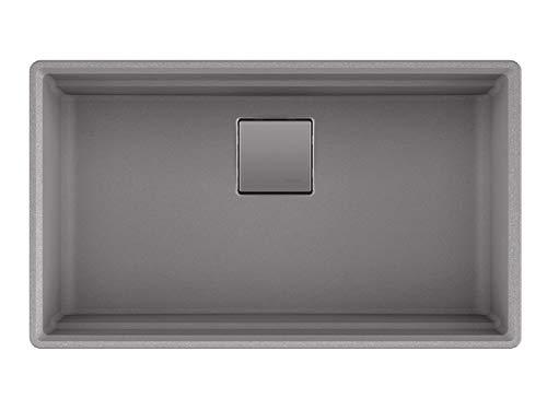 Franke PKG11031SHG Peak Undermount Single Bowl Granite Kitchen Sink, 32 x 18.75 x 9, Gray