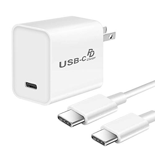 Fast Charger for iPad Pro 11/iPad Pro 12.9/3rd generation/2018,18W USB C PD Charger for Google Pixel 4/Pixel 3/2/3A/XL/2XL/3XL/4XL Samsung Galaxy S10/S9/S8,6.6FT USB C to C Cable